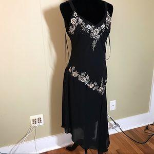 Stunning black floral pattern dress